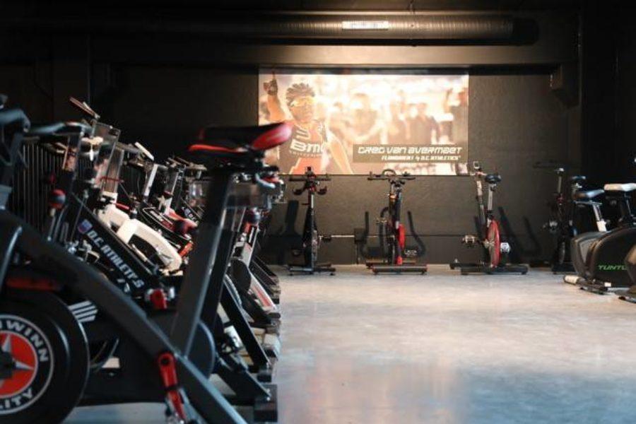 Showroom spinningfietsen